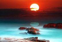 Breathtaking sunsets and sundowns, stunning moon