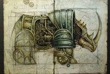 μηχανήματα / maquinaria  / by Lívia Gabbai