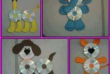 Tvoření pro děti -recyclace- CD + PET láhve