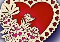Srdce / děti tvoří srdce pro maminky, tvoření pro zamilované