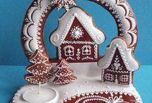 Perníčky- vánoční / Pernikové vánoční ozdoby- dekorace