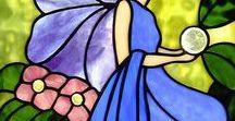 šablony- malování na  sklo