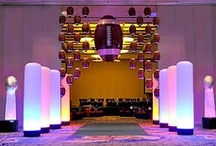 Super Bowl | Event Decor / Sixth Star Entertainment Superbowl themed event design and decor. We custom build and design all props and decor to your budget and specifications. We work worldwide. www.sixthstarentertainment.com 954-462-6760
