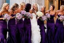Eggplant Wedding / Eggplant is a popular color for weddings.  See these eggplant themed weddings.