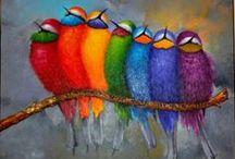 Mettre de la couleur dans sa vie  / Parce que sans une touche de couleur la vie est si triste.....
