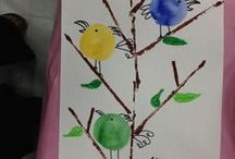 thema lente en vogels