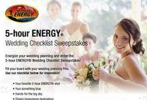 5-hour ENERGY® Wedding Checklist / Energize your wedding planning and enter the 5-hour ENERGY® Wedding Checklist Sweepstakes! http://www.5hourenergy.com/weddingprize/  / by 5-hour ENERGY®