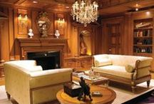 """Warm Luxe / Who doesn't love a room that envelops you when you walk in?  It just makes you want to curl up with that book or with a glass of something.  Clive Christian luxury interiors in the Warm Luxe palette create a room that says, """"Come in and stay a long while."""""""