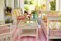Backyard, porches & garden.