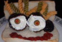 Scary Meatballs / Using Dominex Eggplant Meatballs for fun Halloween food.