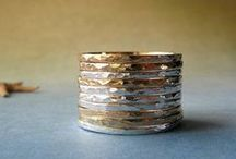 Sterling silver and gold rings