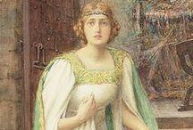 Art: Art Nouveau / Pre-Raphaelits / Art Nouveau, Arts & Carft; Jugendstil, PreRaphaelit ...