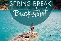 Spring Break Travel Ideas / Spring Break isn't just for visiting the beach. Here are great travel ideas and inspiration for your college, family or couple Spring break travel!