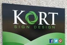 Our work and workspace / KORT Sign Design creates custom business signage, displays and decor. This board showcases our work around the Minneapolis-St. Paul area. Enjoy!