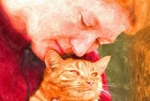the art of kitten love / the art of kitten love - metaformose - fotobewerking - imaging - © fotografie, studio Care Graphics, Charley van Doorn | outdoors photography - straatfotografie