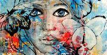 Face Art Inspiration / Pinning inspiration & supplies for creating art faces