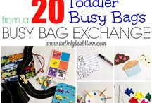 Busy bags / Busy bags to keep your little ones occupied!