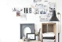 ▲Mood boards / Walls, boards, desks and everything that can inspire you and feels you more creative