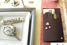 Table de mariage rose et argent / Inspirations de table de mariage sur les couleurs Gris, rose et argent.
