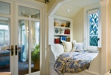 Sleeping nooks....pj party / Cozy places to curl up with a good book, sleep overs for friends and family. Amenties of a guest bedroom!