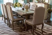 Home Decor: Dining room / Interior design ideas and suggestions for the dining room or dining area.