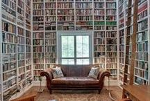 Home Decor: Home Library / Interior design ideas and suggestions for home libraries and book corners.