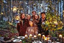 The Van Outersterp family / Glamping / posh camping, rustic, family lifestyle, Yorkshire woodland.