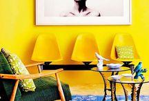 Amarelo / Painel sala