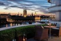 London properties / Modern buildings on the banks of the Thames in stylish London and traditional homes in the picturesque villages of England.