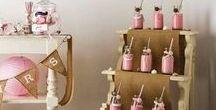 Candy Bar / Des inspirations pour la création de votre Candy Bar et quelques produits intéressants. N'hésitez pas à varier la taille des bocaux, les formes et couleur des bonbons, pensez aussi aux dragées et bien sûr à l'indispensable Mason Jar !