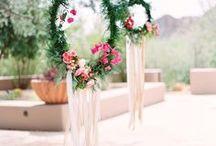 Mariage Bohème / Toutes les inspirations et idées pour créer une jolie decoration de mariage bohème.