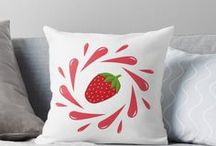 Home Decor by Luna Princino / Throw pillows, duvet covers, mugs, clocks, acrylic blocks, wall tapestry with prints by Luna Princino.