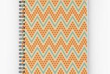 Stationery by Luna Princino / Spiral notebooks, hardcover journals, stickers designed by Luna Princino