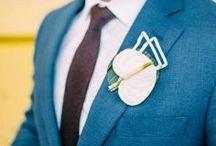 Blauwe trouwpakken inspiratie