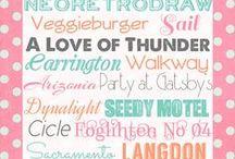fonts / typographics