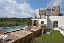 Dřevěné obložení bazénu