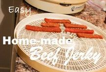 Dehydrator recipes / easy, dehydrater, recipes, beef jerky, friut roll up, chips, homemade