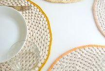 G A N C H I L L O: DECO / Objetos para decorar tu casa hechos de ganchillo.