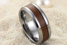 Stylish Wood Rings / Stylish Wood Rings in Tungsten, Ceramic Rings at http://www.tungstenrepublic.com / by Tungsten Republic