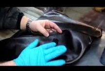 Leather repair on Cat Scratches / Leather Furniture Repair