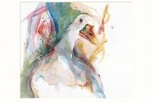 Animals / A collection of popular artists focusing their portfolio of work on capturing animals predominantly chickens, cockerels, horses, hares and cows.
