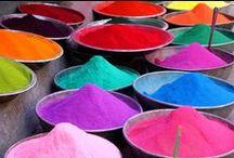 Pigments / les couleurs de l'arc en ciel