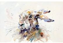 Mad March Hares / Some of our most popular artists paint hares.