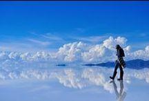 Salar Uyuni adventure / Neon coloured pools, huge sea of white expanse, open blue skies and solitude.