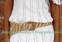sukienki i bluzki szydełkowe