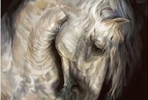 Debbie Boon / Animal Paintings by Debbie Boon - we have many original paintings and limited edition prints of beautiful creatures: hares; hounds; horses; owls.