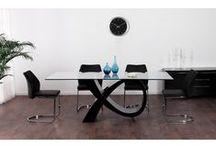 IDEES TABLES verre+acier / table salle à manger verre acier