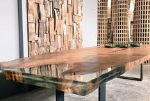 Natural Wood / The use of wood in our design schemes, from 45,000 year old bog woods, reclaimed woods through to unique petrified wood pieces.