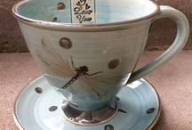 Pottery / Teacup dragonfly