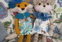 Animals - toys / handmade toys , handmade stuffed animals, textile toys, fabric toys, animals